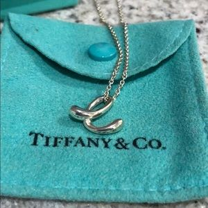 Tiffany & Co. Jewelry - Tiffany & co. Elsa Peretti Letter e Pendant